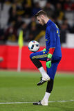 David De Gea żongluje z piłką Obraz Stock