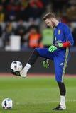 David De Gea żongluje z piłką Obrazy Royalty Free