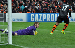 David De Gea catched the ball Stock Image