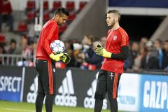 David de Gea and Sergio Romero Manchester Unied Royalty Free Stock Photo