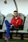 David de Gea sitting on the reserve bench Stock Images