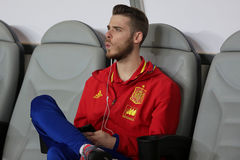 David de Gea whistling Royalty Free Stock Photography