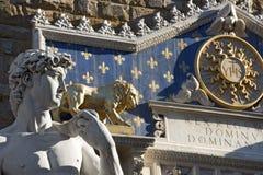 David door Michelangelo - Florence Italy Stock Foto's