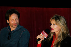 David Duchovny and Natascha McElhone. Actors David Duchovny and Natascha McElhone participate in a Q&A for Californication as part of the L.A. Times Screening Stock Images