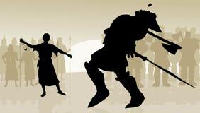 David e Golia Immagini Stock Libere da Diritti