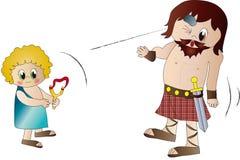 David e Goliath Fotografia Stock Libera da Diritti