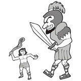 David e goliath Imagem de Stock Royalty Free