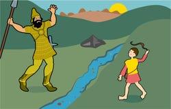 David e Goliath royalty illustrazione gratis