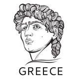 david El héroe mitológico de Grecia antigua Ilustraciones hermosas a mano del vector aisladas Mitos y leyendas tatuaje libre illustration