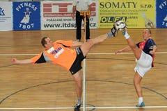 David Esner e Dusan Ifka - futnet Fotografia Stock