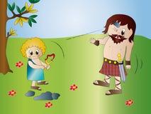 David et Goliath Photos libres de droits