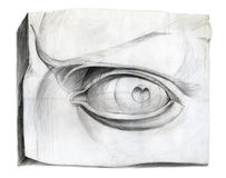 David eye. Drawing Stock Photo