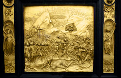 David; Fallen Goliath, Gates of Paradise, Florence Royalty Free Stock Images
