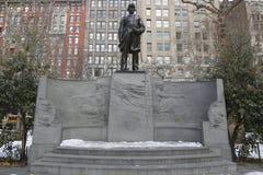 David Farragut Memorial i Madison Square Park i Manhattan Arkivfoton