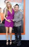 David Faustino och Lindsay Bronson Royaltyfria Bilder