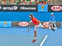 David Ferrer bawić się w australianie open Zdjęcia Stock