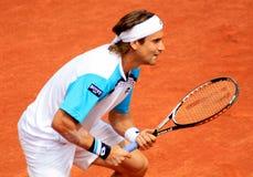 David Ferrer bei Roland Garros 2011 lizenzfreie stockfotografie
