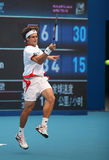 David Ferrer bij 2010 Open China Stock Fotografie