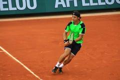 David Ferrer chez Roland Garros 2013 Photos stock