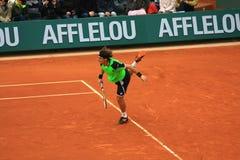David Ferrer chez Roland Garros 2013 Image stock