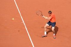 David Ferrer (jugador de tenis español) en el ATP Barcelona Imagen de archivo