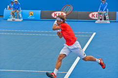 David Ferrer playing in the Australian Open Stock Images