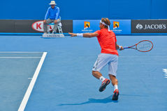 David Ferrer playing in the Australian Open Royalty Free Stock Image