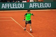 David Ferrer in Roland Garros 2013 Royalty-vrije Stock Foto