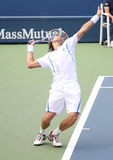 David Ferrer Serving at the 2008 US Open Stock Image