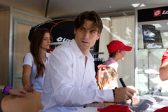David Ferrer signing autographs Royalty Free Stock Photos