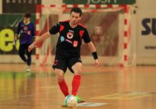 David Filinger in futsal match Royalty Free Stock Image