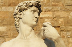 David from Florence. Famous statue of David by Michelangelo in Florence on Piazza Signoria, Italy royalty free stock photo
