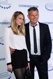 David Foster. And daughter  at the Clinton Foundation Gala in Honor of A Decade of Difference,  Palladium, Hollywood, CA 10-14-11 Royalty Free Stock Photography