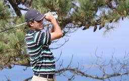 David Frittelli bij de het golfuitdaging 2013 van Pleneuf Val Andre Stock Foto