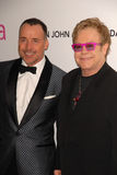 David Furnish,Elton John Royalty Free Stock Photos