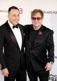 David Furnish and Elton John Stock Images