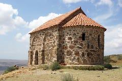 David Garedji, Kakheti, Georgia, Europe. Old chapel close to the Caves of David Garedji, Kakheti, Georgia, Europe stock photos