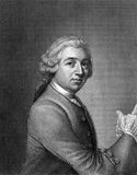 David Garrick. (1717-1779) on engraving from 1859. English actor, playwright, theatre manager and producer. Engraved by unknown artist and published in Meyers stock photo