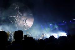 David Gilmour bor på Pompeii 2016 Arkivfoto