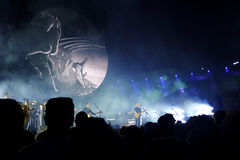 David Gilmour, vive em Pompeii 2016 foto de stock