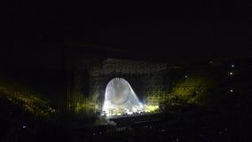 David Gilmour, vive en Verona 2016 imágenes de archivo libres de regalías