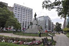 David Glasgow Farragut Monument in the Park from Washington District of Columbia USA Royalty Free Stock Image