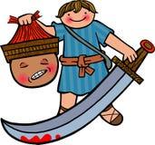 david Goliata ilustracja wektor