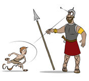David and Goliath Color Stock Images