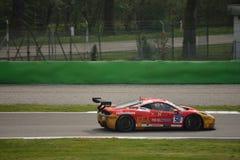 David Gostner Ferrari 458 utmaning Evo på Monza Arkivfoton