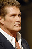 David Hasselhoff appearing live. David Hasselhoff at the Arden B Fashion Show in Los Angeles royalty free stock photos