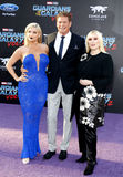 David Hasselhoff, Hayley Hasselhoff, Taylor Ann Hasselhoff Royalty Free Stock Photography