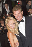David Hasselhoff and Hayley Roberts Royalty Free Stock Photography