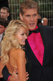 David Hasselhoff & Hayley Roberts Royalty Free Stock Images