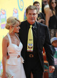 David Hasselhoff & Hayley Roberts Stock Photos